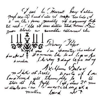 "Dear Rosalie 6x6"" stencil, Rosalie collection"