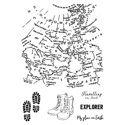 A6 Stamp - Travel map - Travel the World collection