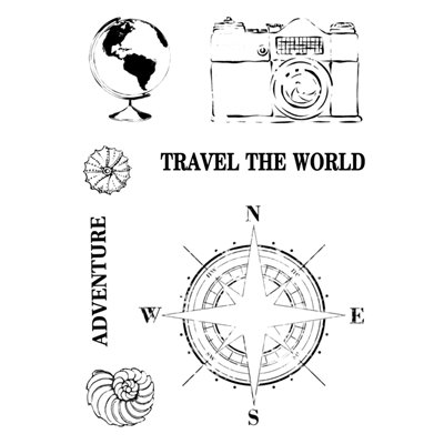 A7 Stamp - Around the globe - Travel the World collection