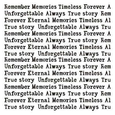 """Remember this story 6x6"""" stencil, Unforgettable collection"""