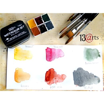 Watercolors Australia set - 6 half pans