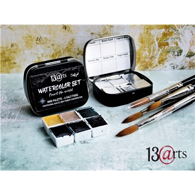 Watercolors Travel set - 6 half pans