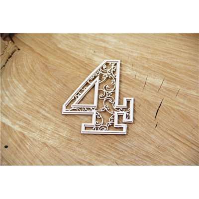 Monograce cyfry 4 - 7 cm
