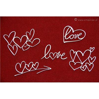 Brush art elements - hearts