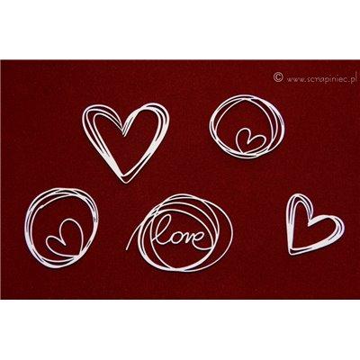 Brush art elements - love doodles