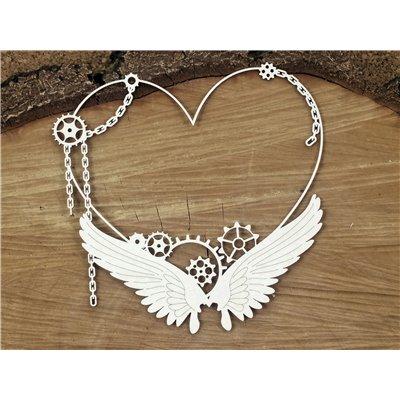 Steampunk - Flying hearts - Big heart frame