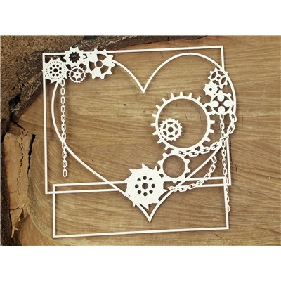 Steampunk - Flying hearts - Big square frame