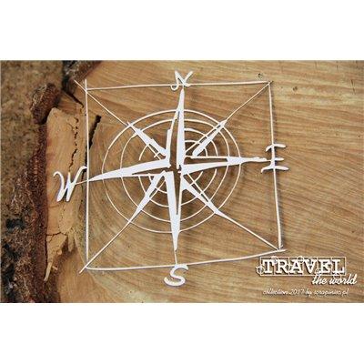 Travel the world - frame - compass rose
