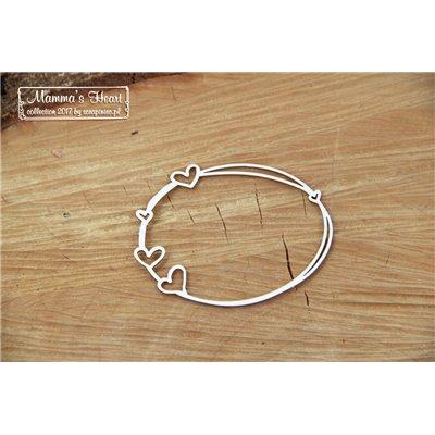 Mammas heart - Small Oval frame