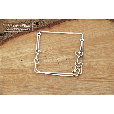 Mammas heart - Small Square frame