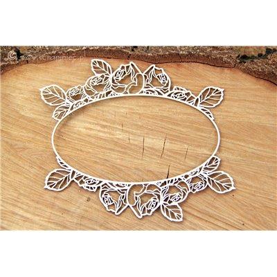 Roses - oval frame