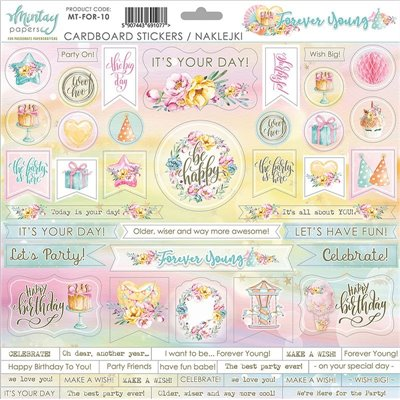 12 X 12 Cardstock Stickers Forever Young