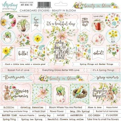 12 X 12 Cardstock Stickers Beauty In Bloom