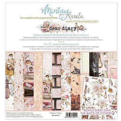 12 x 12 Paper Set - Dear Diary