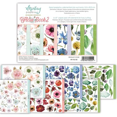 6 x 8 Flora Book II - elements for precise cutting