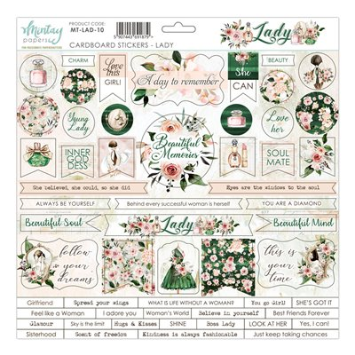 12 X 12 Cardstock Stickers Lady
