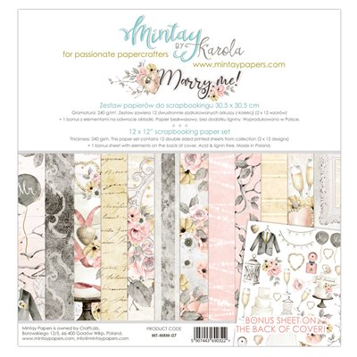12 x 12 Paper Set - Marry Me