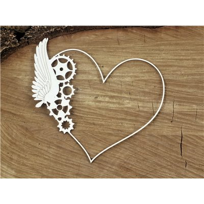 Steampunk - Flying hearts - one wings frame