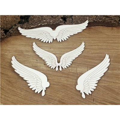 Steampunk - Flying hearts - set of wings