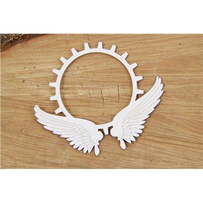 Steampunk - Flying hearts - gear in wings