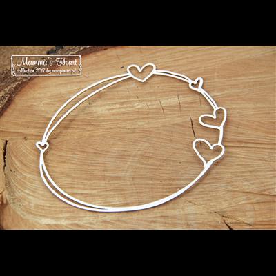 Mamma's heart - Big Oval frame