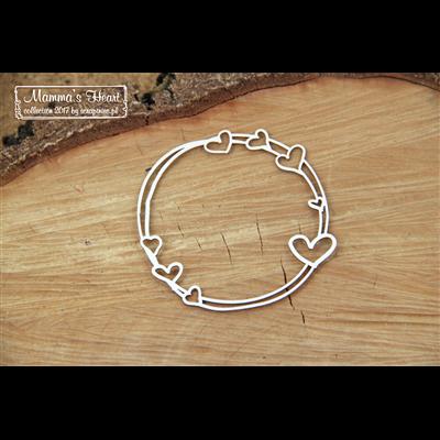 Mammas heart - Small Round frame