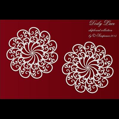 Doily Lace - 2 Big rosettes