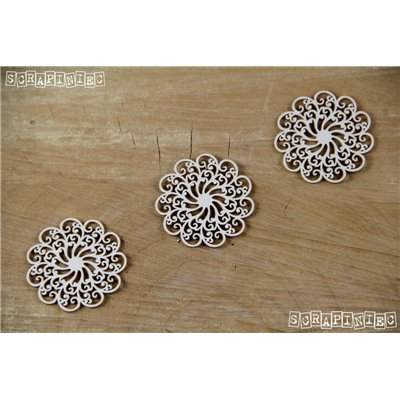 Doily Lace - 3 Small rosettes