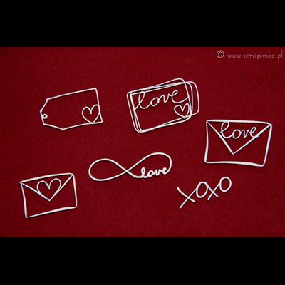 Brush art elements - love letters