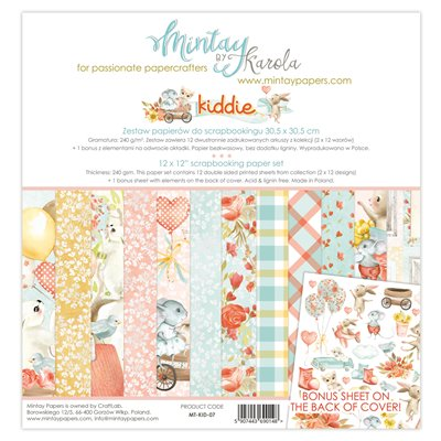 12 x 12 Paper Set - Kiddie
