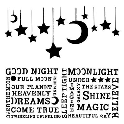 Hanging Moon stencil - Under the Stars collection