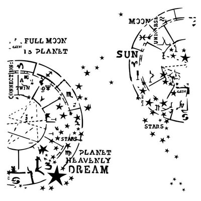 Horoscope stencil - Under the Stars collection