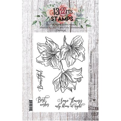 A7 stamp - Sky flowers - Under the Stars collection