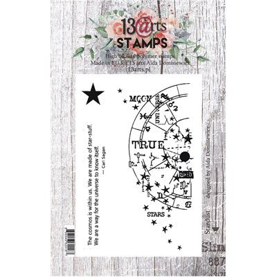 A7 stamp - Stardust - Under the Stars collection