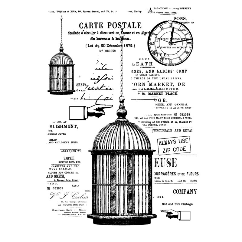 A6 stamp - The cage - Rosalie collection