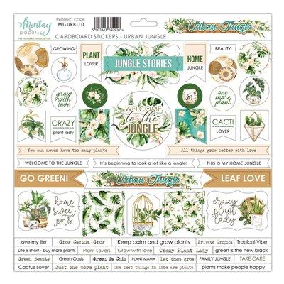 12 X 12 Cardstock Stickers - Urban Jungle