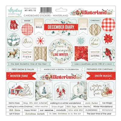 12 X 12 Cardstock Stickers Winterland