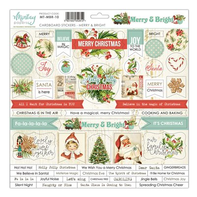 12 X 12 Cardstock Stickers Merry & Bright