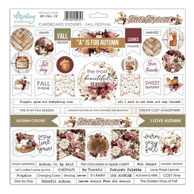 12 X 12 Cardstock Stickers - Fall Festival