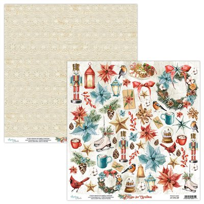 12 x 12 Elements Paper - Home for Christmas