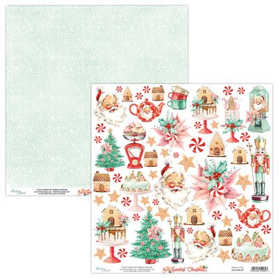 12 x 12 Elements Paper - The Sweetest Christmas -12'x12'-es kivágóív