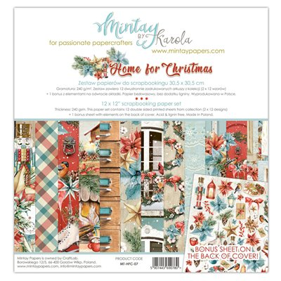 12 x 12 Paper Set - Home for Christmas