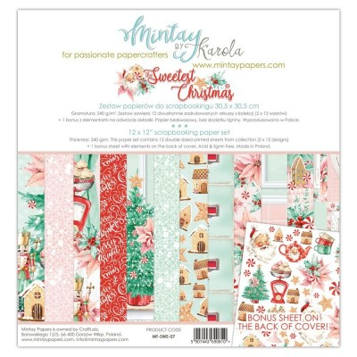 12 x 12 Paper Set -The Sweetest Christmas