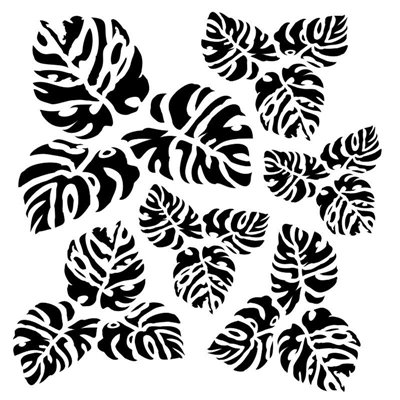 Meditarenian tropics 6x6 stencil, BELLA collection