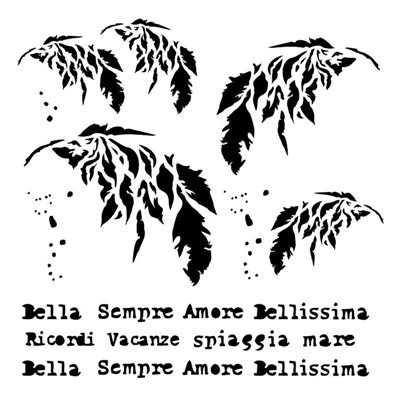 Sempre 6x6 stencil, BELLA collection