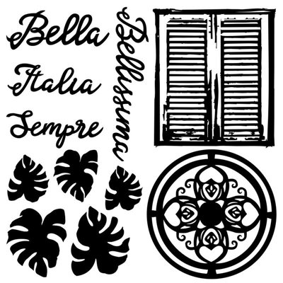 "Set of chipboard 6x6"", BELLA"