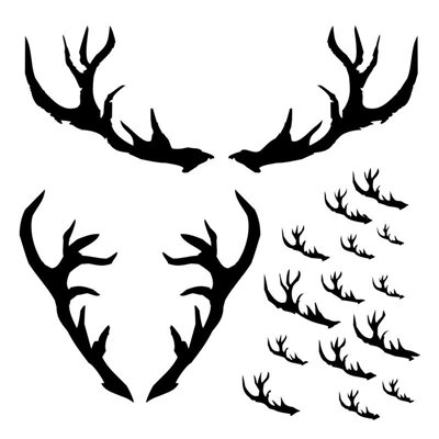 Antlers 6x6 stencil, DREAMLAND collection