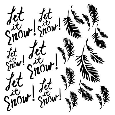 Let it snow 6x6 stencil, DREAMLAND collection