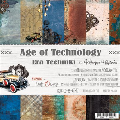 "Age of Technology - paper pad 8""x8"""