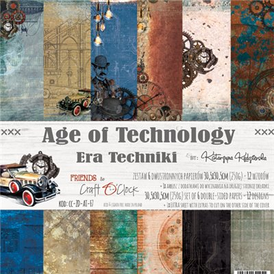 "Age of Technology - paper set 12""x12"""
